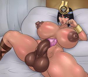 gigantic tits futanari